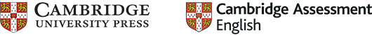 Cambridge University Press & Cambridge Assessment English